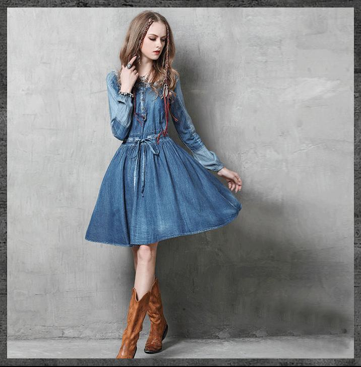 rochie_denim_blugi_tre_sfert_hippie_maneci_broderie_boho_jeans_magazin_online_haine_femei