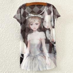 Tricou dame cu imprimeu