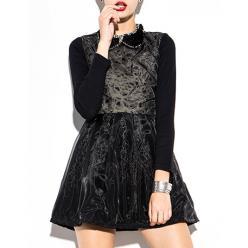 Rochie neagra eleganta cu transparenta