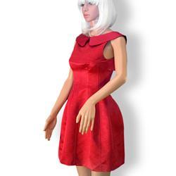Rochie eleganta rosie de inspiratie retro