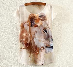 Tricou femei cu imprimeu leu
