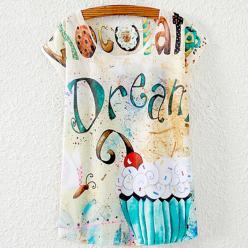 Tricou femei maneci scurte cu imprimeu color dream