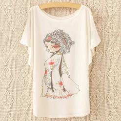 Tricou bluza pentru femei  imprimeu japonez