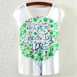 Tricou bluza pentru femei cu imprimeu colorat Need Love