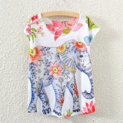 Tricou de dama cu imprimeu elefant