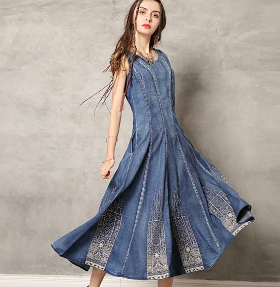 magazin rochii de calitate denim jeans blugi boho