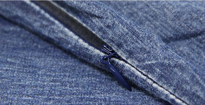 Rochie jeans blugi denim cu broderie boho chic