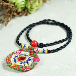 Colier textil handmade etnic