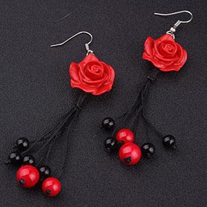 Cercei handmade trandafiri sculptura
