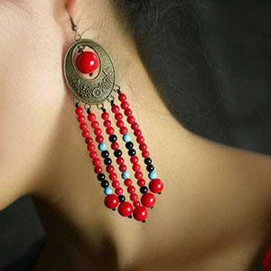 Cercei handmade pietre naturale bohemian
