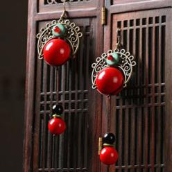 Cercei handmade agat si turcoaz