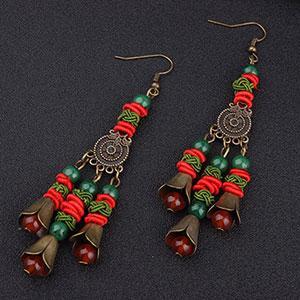 Cercei handmade etnic agat bohemian