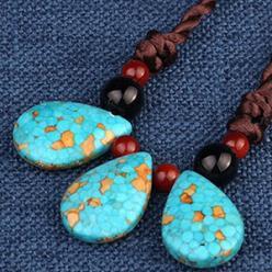 Colier cu pietre turcoaz