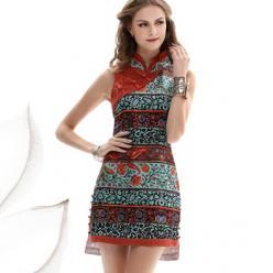 Rochie tunica cu imprimeu colorat